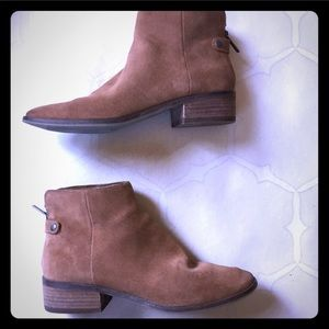 Dolce Vita suede leather camel booties